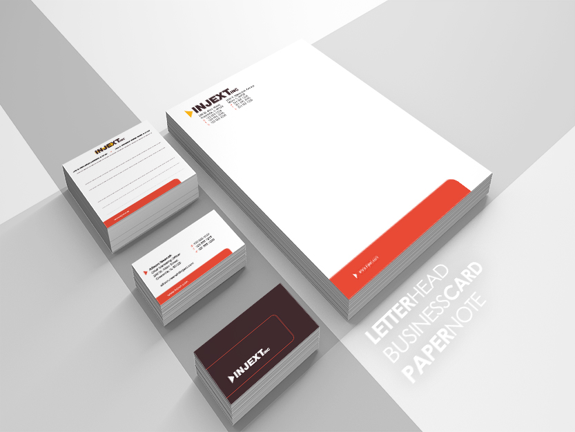 Picture of Business Cards, Postcards, and Letterhead representing a unified branding theme