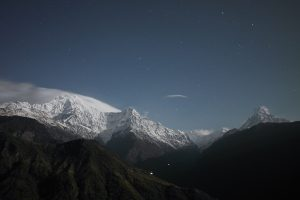 Mountains at night Pic