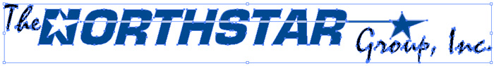 Example of The Northstar Group's Logo Showing as Vectorized and Outlined Artwork