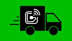 RFID Symbol on a Shipping Truck
